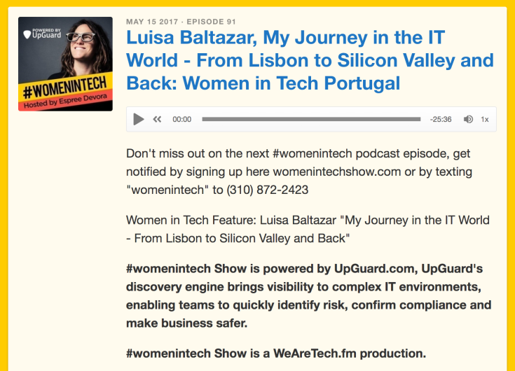 Women in Tech podcast Luisa Baltazar